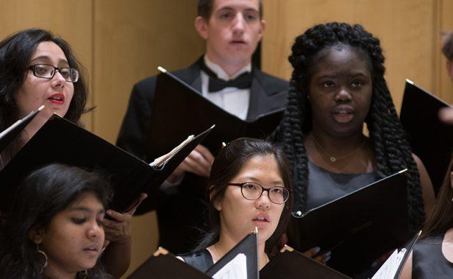 students in chorus