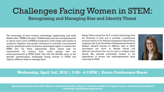 Challenges Facing Women in STEM Flyer