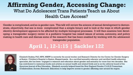 Affirming Gender, Accesing Change event flyer