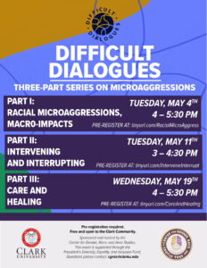 Difficult Dialogues Three-Part Series on Microaggressions