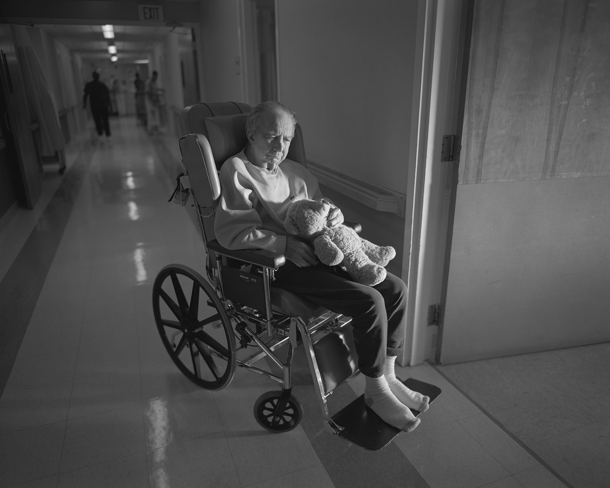 Gene DiRado in wheelchair