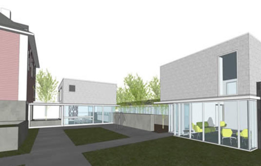drawing illustration of new wing