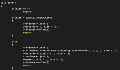Screenshot of computer code