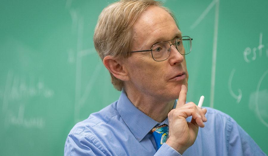 Wayne Gray teaching at the blackboard