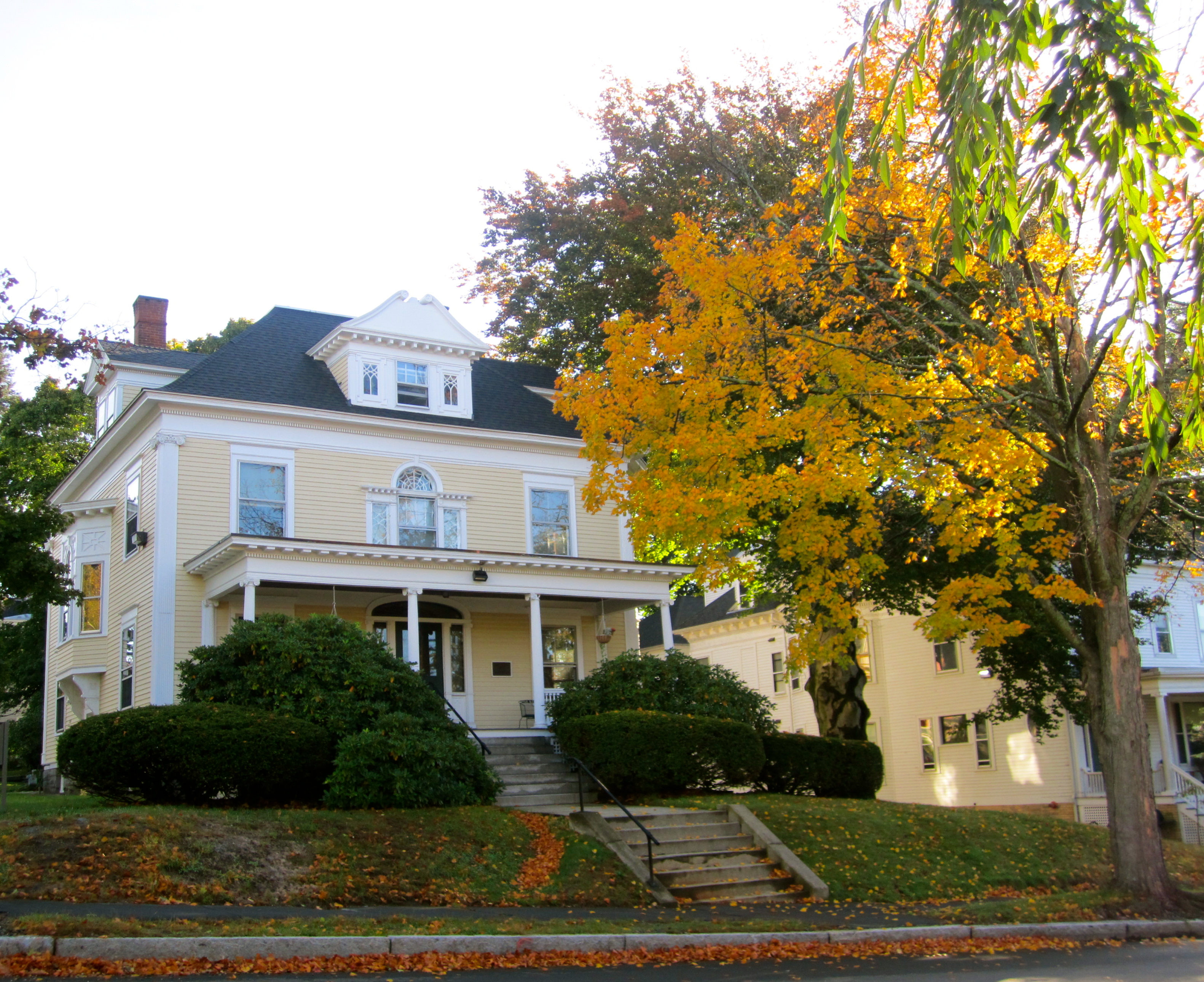 Fall scene with the Anderson Hous