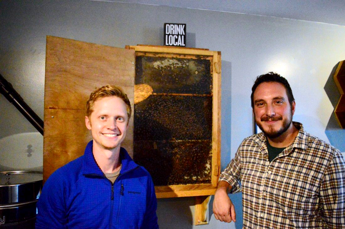 Nick Delaini and Ethan Mikesell of the Hex and Hop brewery
