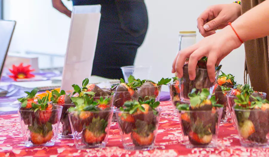 cups of strawberries