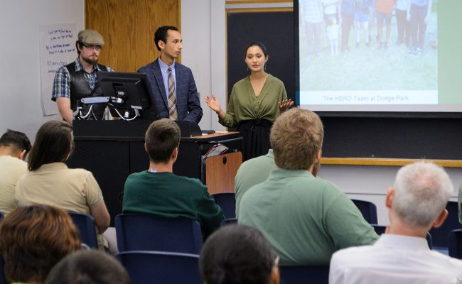 Students present to DCR Foresters, faculty and residents at stakeholder summit