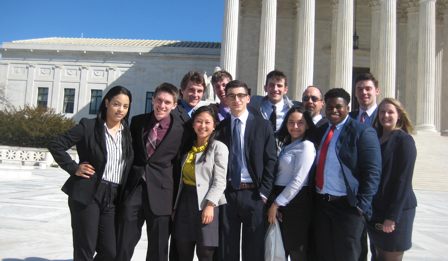 Prelaw students visit the Supreme Court in Washington D.C