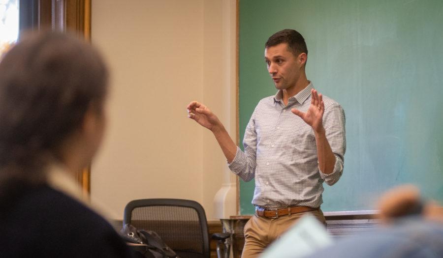 Jack Delehanty teaching class