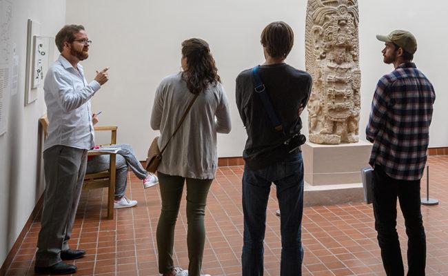 Art History Professor John Garton speaks at the Worcester Art Museum