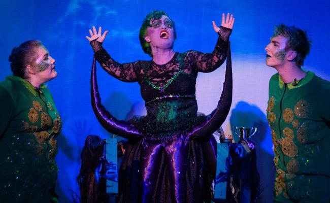 girl on stage little mermaid