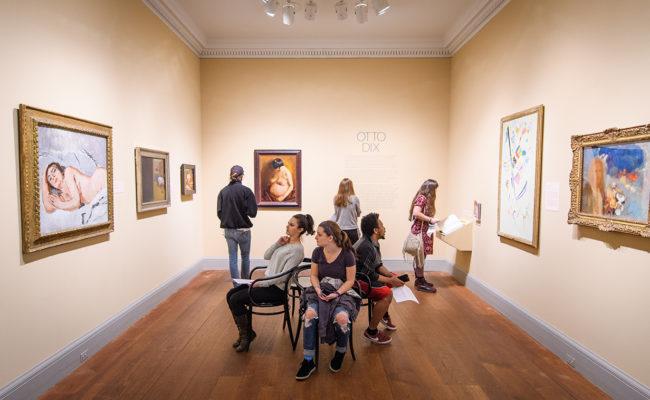 Art History class at Worcester Art Museum