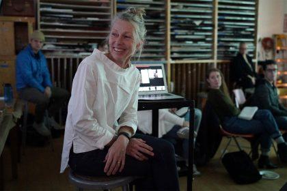 Worcester, MA. Cheryle St. Onge Lecture Studio Art Clark U. 11-13-19