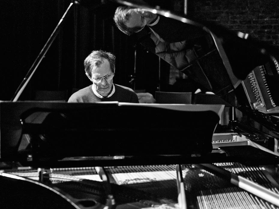 Stephen Drury plays a grand piano