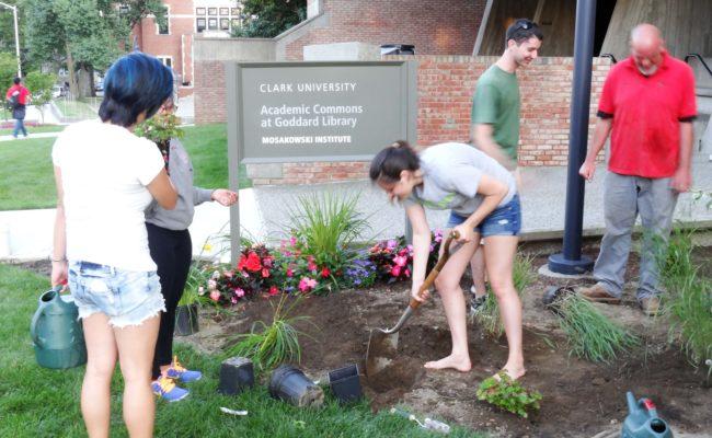 kids planting plants