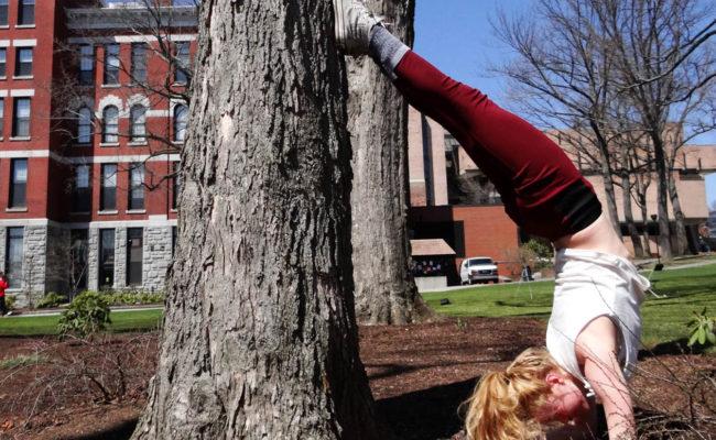 student handstand