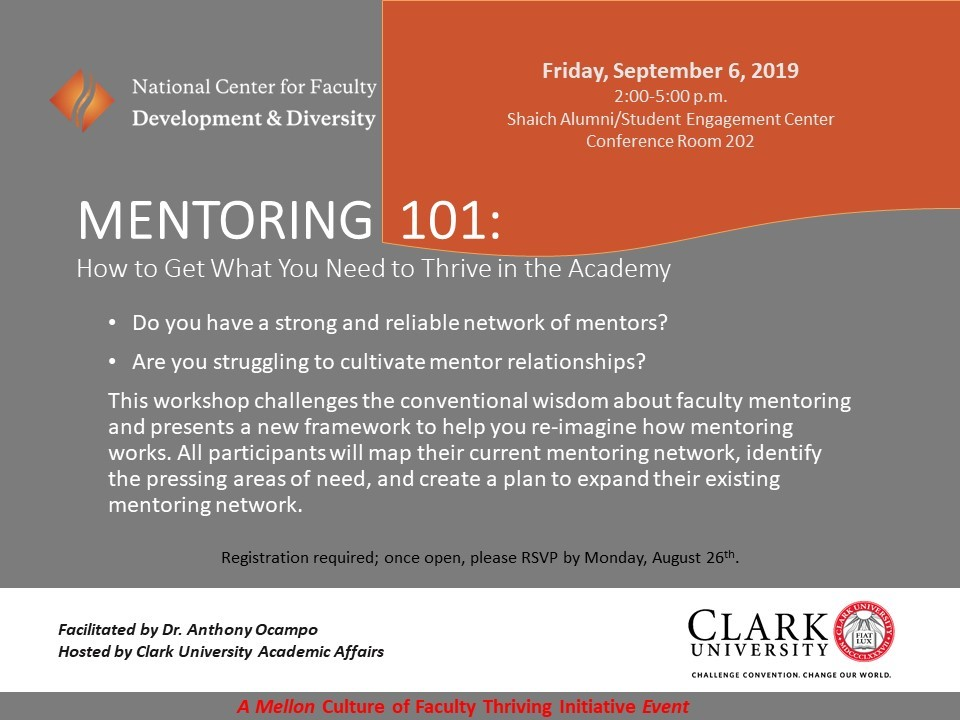 mentoring 101 poster cover