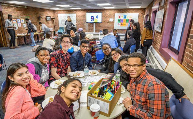 students smiling at camera
