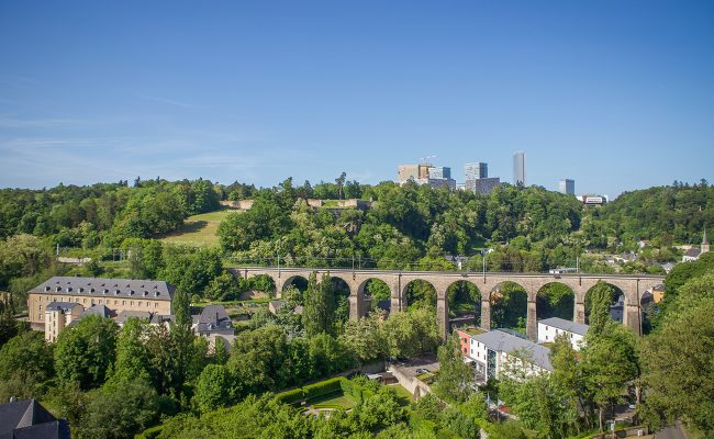 Bridge and landscape view in Luxembourg