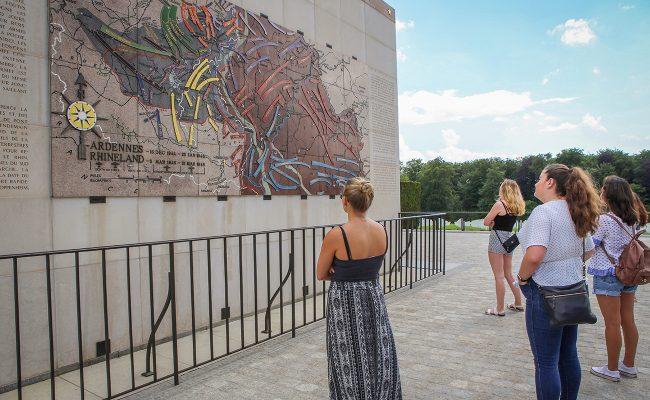 Ardennes Rhineland map on wall