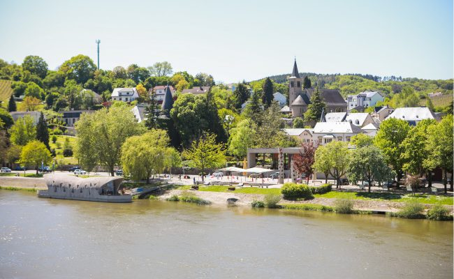 View of river in Luxembourg