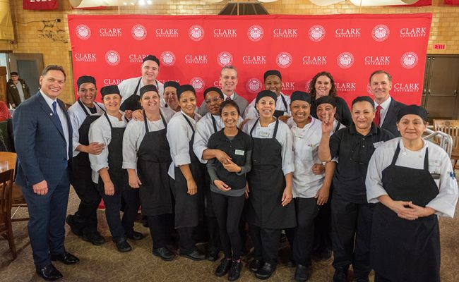 Catering staff meets David Fithian