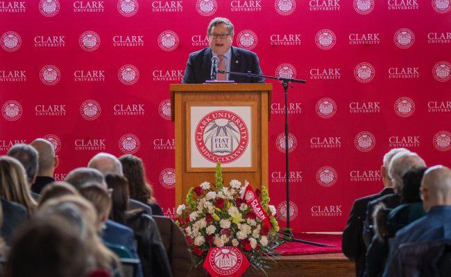 Ross Gillman giving speech