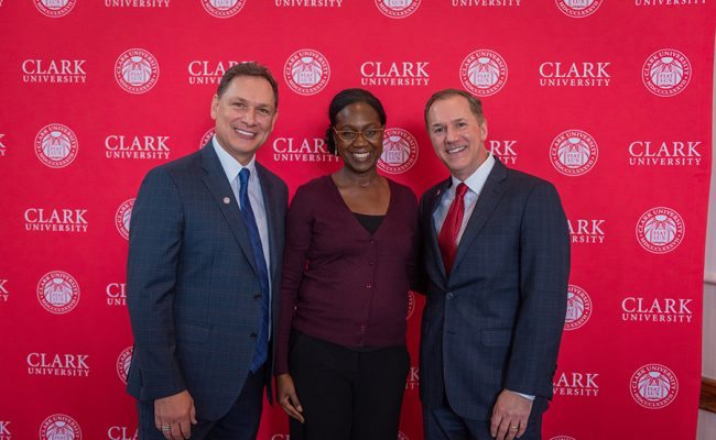 David Fithian '87 and Michael Rodriguez with Sheree Ohen, chief officer for diversity and inclusion.