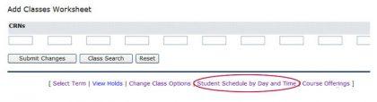 screen shot - add classes