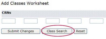 screen shot - add classes worksheet